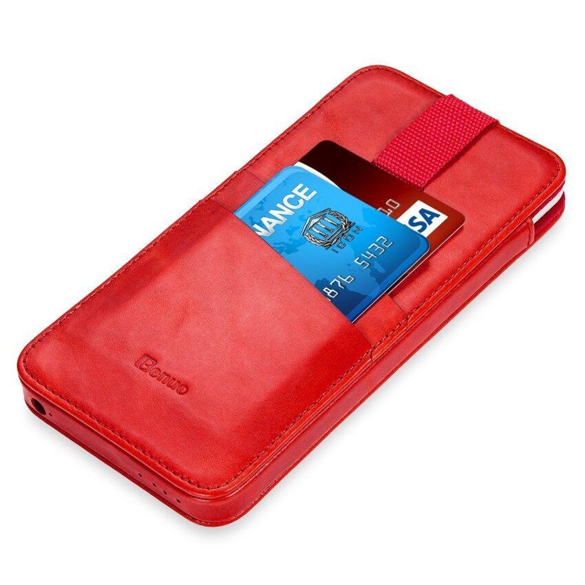 Asli Case Kulit Penutup. Premium Kantung Lengan Case dengan Magneticpull Tali untuk iPhone 6 S Plus/iPhone 6 Plus 5.5 Inch (Stylishred) -Intl