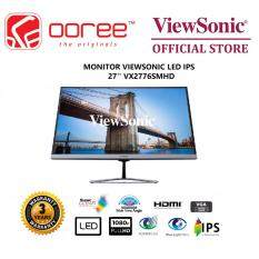 VIEWSONIC 27 VX2776-SMHD LED FLAT ARTSLIM FRAMELESS HD READY (RESOLUTION: 1920x1080 & 60Hz) IPS LCD MONITOR (4MS RESPONSE TIME, VGA + HDMI + DISPLAY PORT INPUT, 3W SPEAKER x2, NO VESA WALL MOUNT) 3YEARS WARRANTY, BLACK COLOUR Malaysia