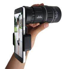 Getek 16x52 Zoom Dual Focus Monocular Telescope & Phone Holder & Pouch Kit By Masamall.