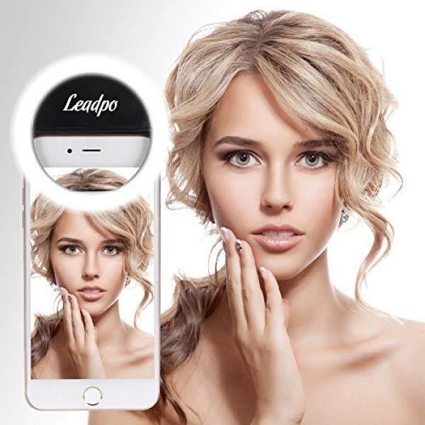 Gim Leadpo Lampu Selfie Ring 36 LED untuk Iphone Samsung Galaxy Sony, Motorola dan Ponsel Pintar Lainnya, 3 Tingkat Kecerahan Penjepit LED Di untuk Semua Smartphone/Tablet, Bagus untuk Menerapkan Make Up (Hitam)-Intl