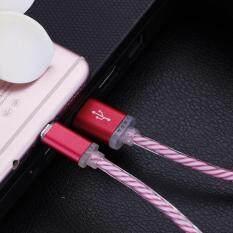 Cahaya Alat Pengisi Daya LED Bercahaya Pengisian Tanggal Kabel Sinkronisasi untuk Samsung Galaxy S3 S4 S5 S6 S7