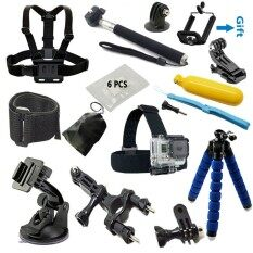 Action Camera accessories Set Monopod tripod Chest Belt Head Mount Strap FOR hero 6 5 4