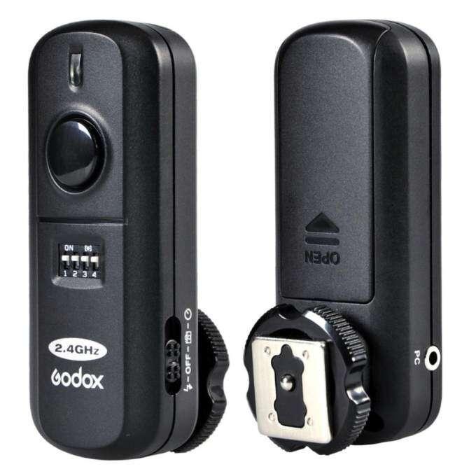 GODOX FC-16 2.4 กิกะเฮิร์ตซ์ 16 ช่องแฟลชระยะไกลสตูดิโอ Strobe Trigger ชัตเตอร์สำหรับ Nikon D5100 D90 D7000 D7100 D5200 D3100 D3200 (สีดำ)-