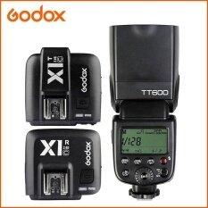 GODOX TT600 2.4G Speedlite Nirkabel Flash X1T-C Memicu X1R-C Penerima untuk Canon