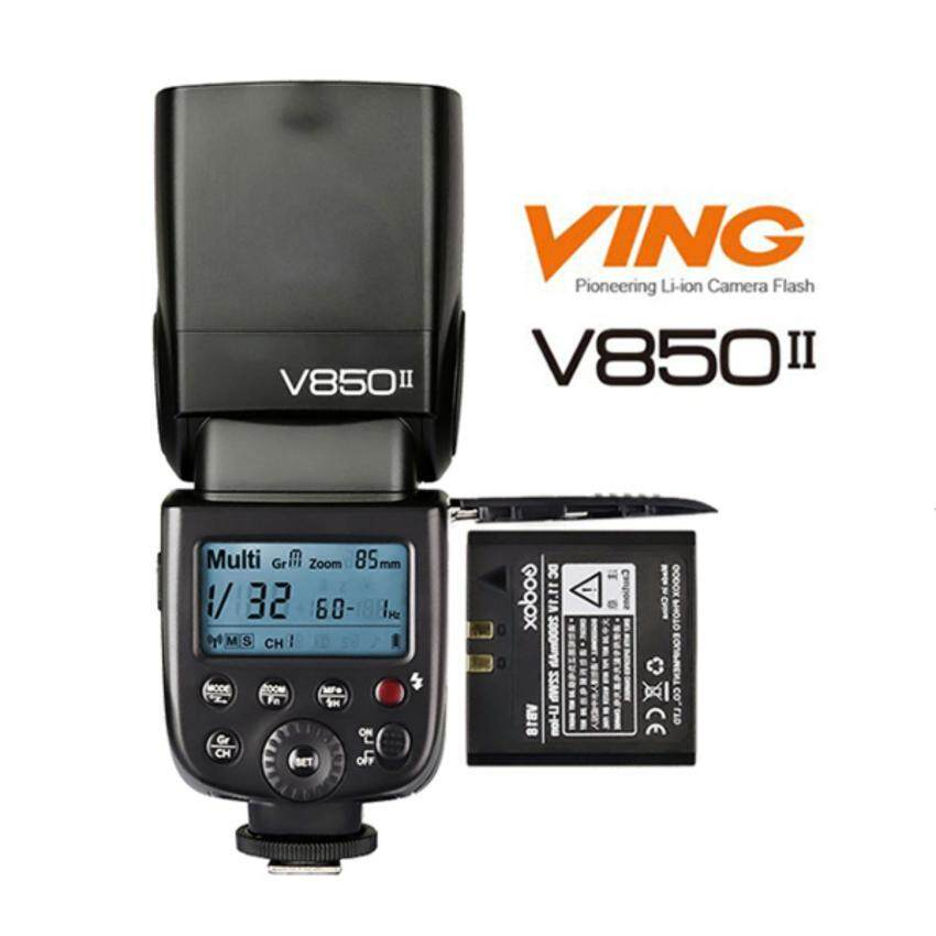 Nicetech Godox V850 II Li-Ion 2.4Ghz Wireless Speedlite Flash for Canon Nikon For Sony Free Battery & Charger (Local Warranty)