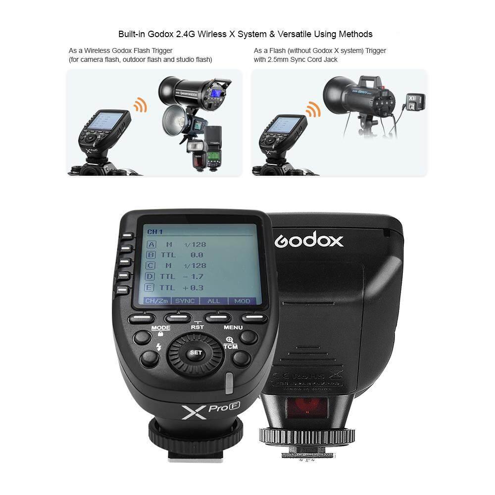 GODOX XPRO-F TTL Nirkabel Pemicu Flash Transmitter Dukungan TTL Autoflash 1/8000 S HSS LCD Besar 5 Group Tombol 11 disesuaikan Fungsi untuk Fujifilm GFX50S X-Pro2 X-T20 X-T2 X-T1 X-Pro1 X-T10 X-E1 X-A3 X100F X100T-Intl