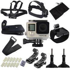 goges Accessories for GoPro,15 Essential Accessories Bundle Kit for GoPro Hero 4 3+for Parachuting Climbing Diving Swimming Surfing Rowing Running Cycling Camping