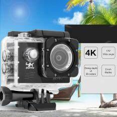 F60 4K Wifi aksi kamera 16MP 170 gelar luas malaikat olahraga DV Waterproof EU Plug