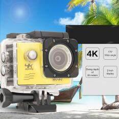 F60 4K Wifi aksi kamera 16MP 170 gelar luas malaikat olahraga DV Waterproof US Plug