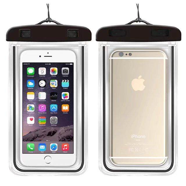 Kualitas Baik Anti-Air Telepon Tas untuk Alcatel Perhatian C3/OT4033 Lembut Bening Kantung Case Olahraga Menyelam (Cocok untuk 6 Inches Di Bawah) -Internasional