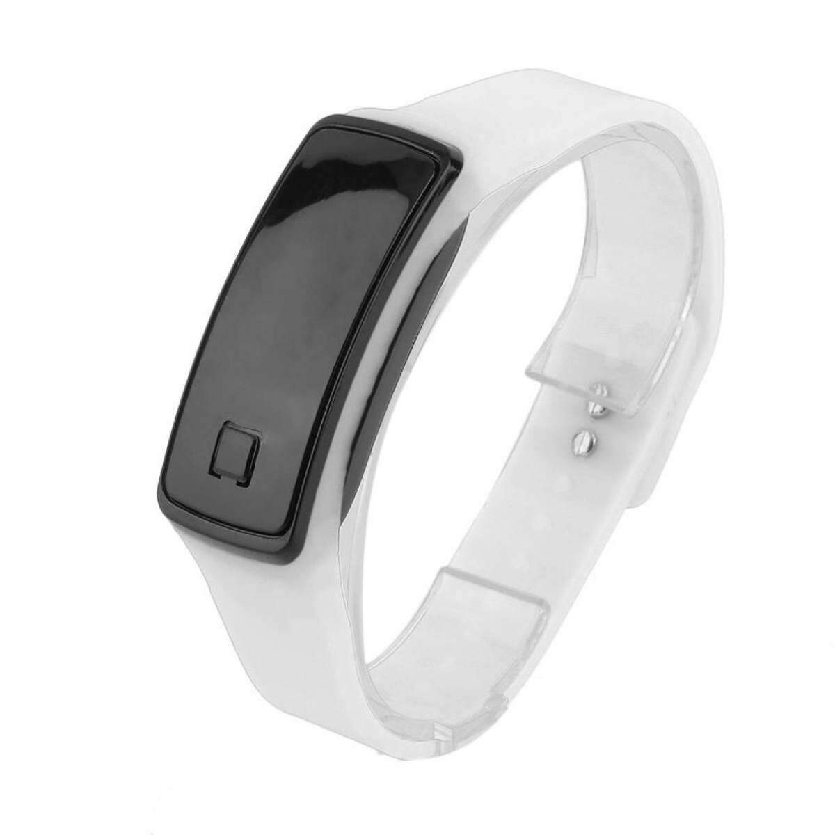 ₱740.00GOOD Super Lightweight LED Touch Sport Running Soft Silicone Smart Wristaband white. 28