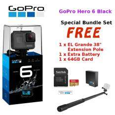 GoPro Hero 6 Black / Hero6 Black Action Camera +64GB+Battery+Grande38'