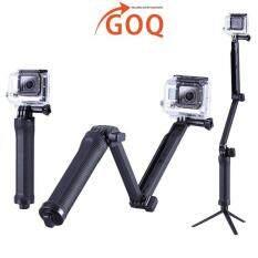 Goq 3 Way Arm Foldable Monopod Tripod Selfie Hand Stick For Sjcam Sj4000 Sj5000 Sj7000 Sj9000 By Harga Borong.