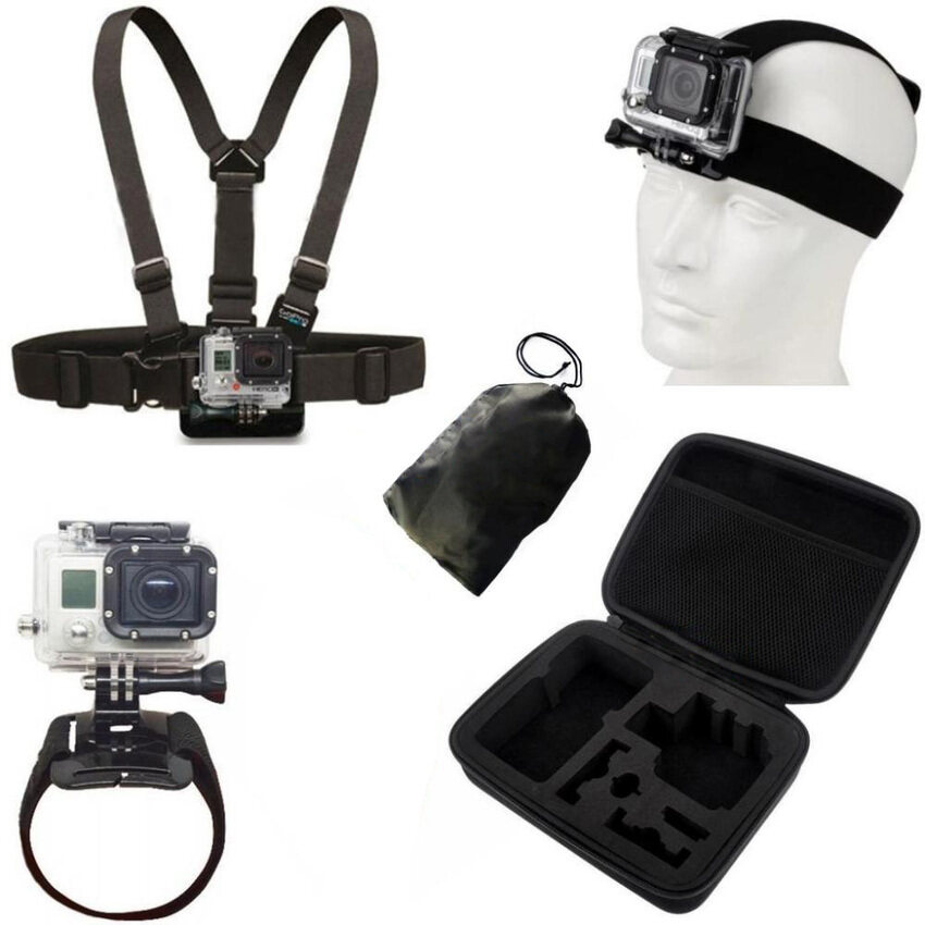 GoSport Gopro Accessories Head Wrist Belt Chest StrapBagFloatingHand Grip Mount (Black) from HUIBANG KEJI