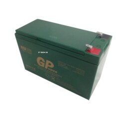 GPower 12V 7.0AH Rechargeable Seal Lead Acid Back Up Battery - Autogate / Alarm / UPS Backup Malaysia