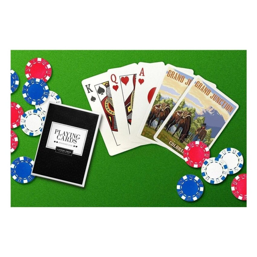 Grand Junction. Colorado - Cowboy and Horse in Spring (Playing CardDeck - 52 Card