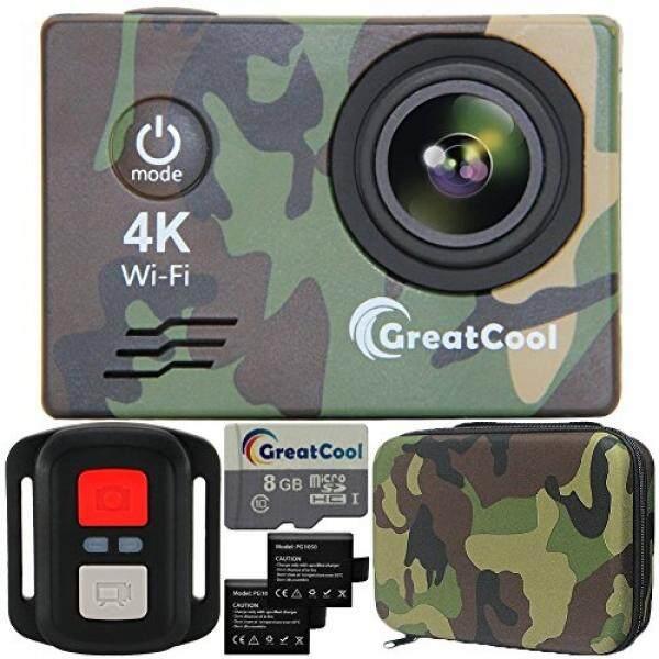 Greatcool Kamera Aksi 4 K Sensor Wifi Sony Nirkabel-Fernbedienung Kamera Kamera Wasserdicht Mit 2 Verbesserten Batterien Transporttasche Und Kostenlose Mikro SD ��-Intl
