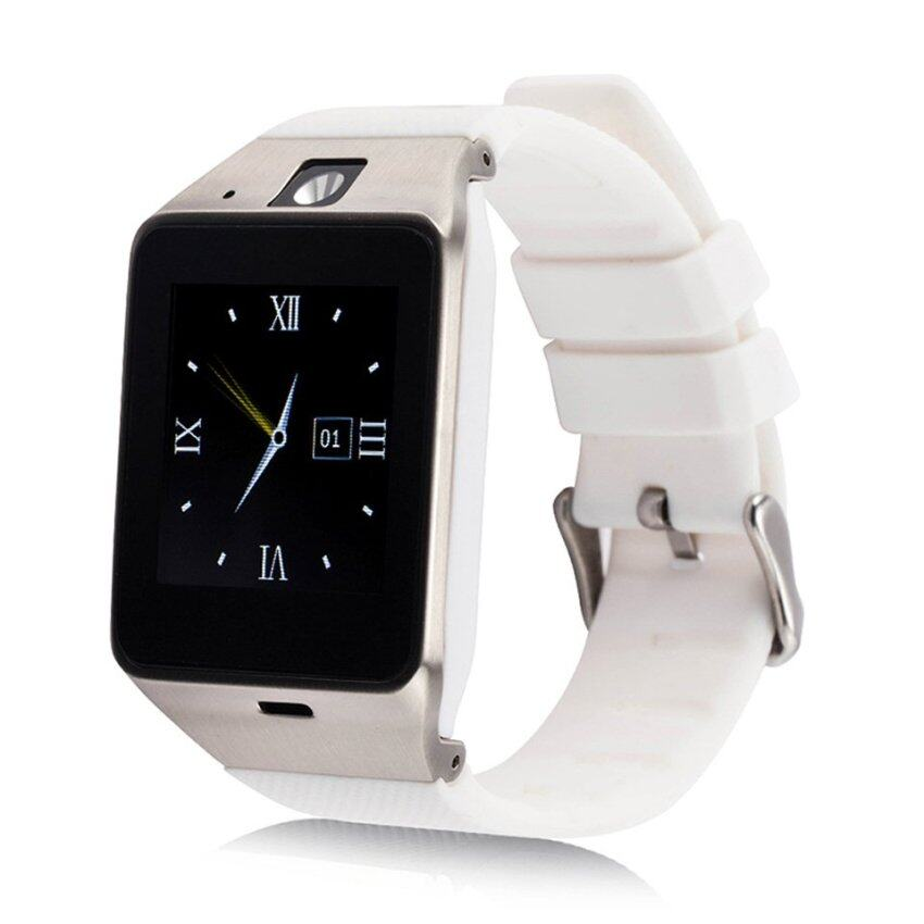 GV18 Smart Watch Sync Notifier Support Sim Card for Android 4.1 to5.0 phone with 1.3 million pixel camera SMS Alarm clock White -Intl - intl