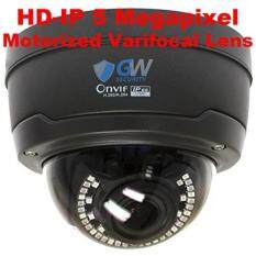 GW Security 5MP Sony IMX326 Exmor R Starvis Technology 4X Optical Motorized Zoom Outdoor Indoor PoE 1920P Back-illuminated Dome H.265 IP Camera 130FT IR Distance