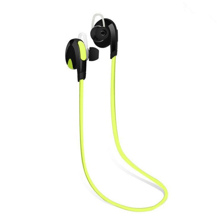 H7 Bluetooth Headset dengan Kebisingan Pembatalan Nirkabel Olahraga Earphone Stereo Headphone Hijau Internasional .