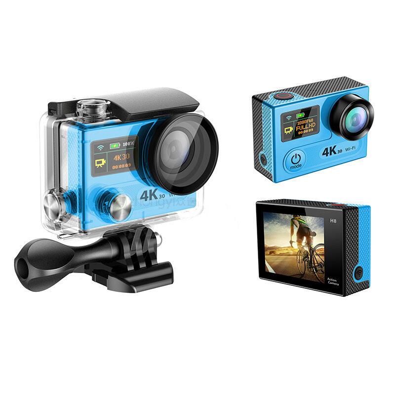 H8R Warna Ganda Gerakan Layar DV4K Digital Biasa Kamera Nirkabel Kendali Jarak Jauh Tahan Air Aerial Kamera Panorama VR-Intl