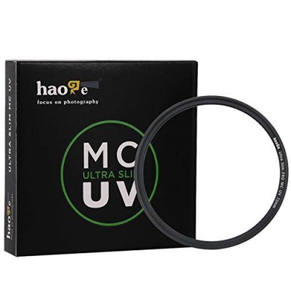 Haoge 72 Mm Ultra Ramping MC Perlindungan Sinar UV Multicoated Ultraviolet Filter Lensa untuk Canon Nikon Sony Minolta Pentax Olympus Panasonic Leica Zeiss Tamron kamera Digital DSLR Lensa-Intl