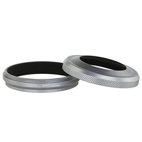 Haoge LH-X49W 2 In1 Logam Gegenlichtblende MIT Objektiv-Adapterset F? R Fuji Fujifilm FinePix X100/X100S/X100T/X70 Silberfarben-Intl