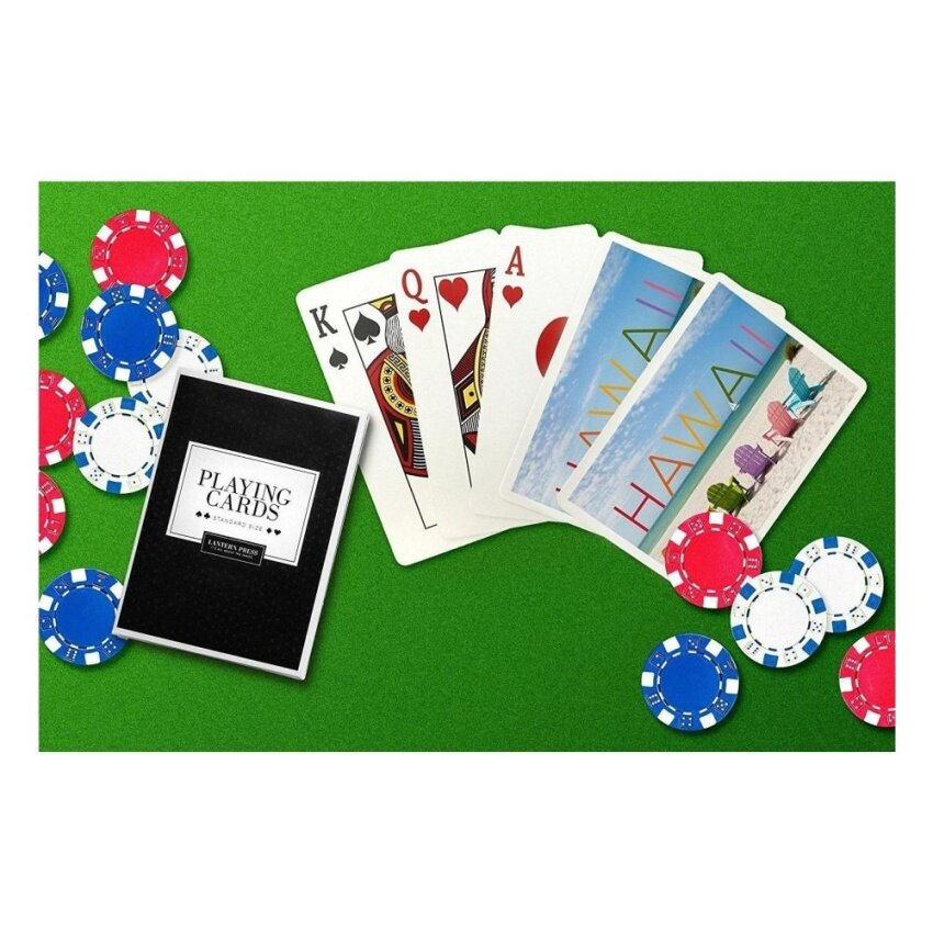 Hawaii - Colourful Beach Chairs (Playing Card Deck - 52 Card PokerSize with Jokers) - intl