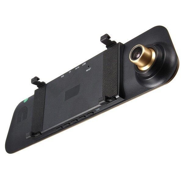FineTop HD 1080P Dual Lens Car Dash Cam Rearview Mirror Camera Rear Video Recorder DVR