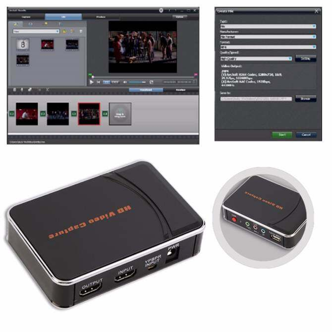 HD Video Game Menangkap 1080 P HDMI Perekam YPbPr dengan Mengedit Perangkat Lunak Kami Steker untuk Permainan Menangkap dengan Mijia Cerdas Tidak Ada PC Bertanya