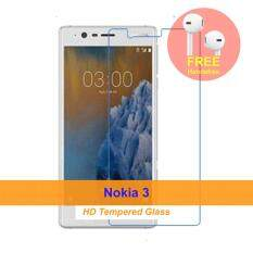 [HD] Nokia 3 Tempered Glass Screen Protector + FREE Apple Designed Handsfree