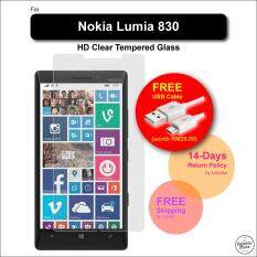 [HD] Nokia Lumia 830 Tempered Glass Screen Protector + FREE Micro USB Cable