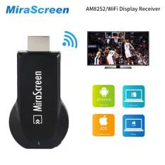 HDMI TV Stick Dongle MiraScreen Wi-Fi Display Receiver DLNA Airplay  Miracast Airmirroring Chromecast (black)