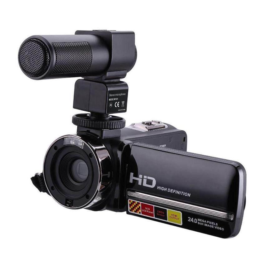 HDV-301M 1080 P 16X Digital Zoom 2 Inch Layar Sentuh LCD Portabel HDV Video Camcorder dengan Mikrofon Hitam-Intl