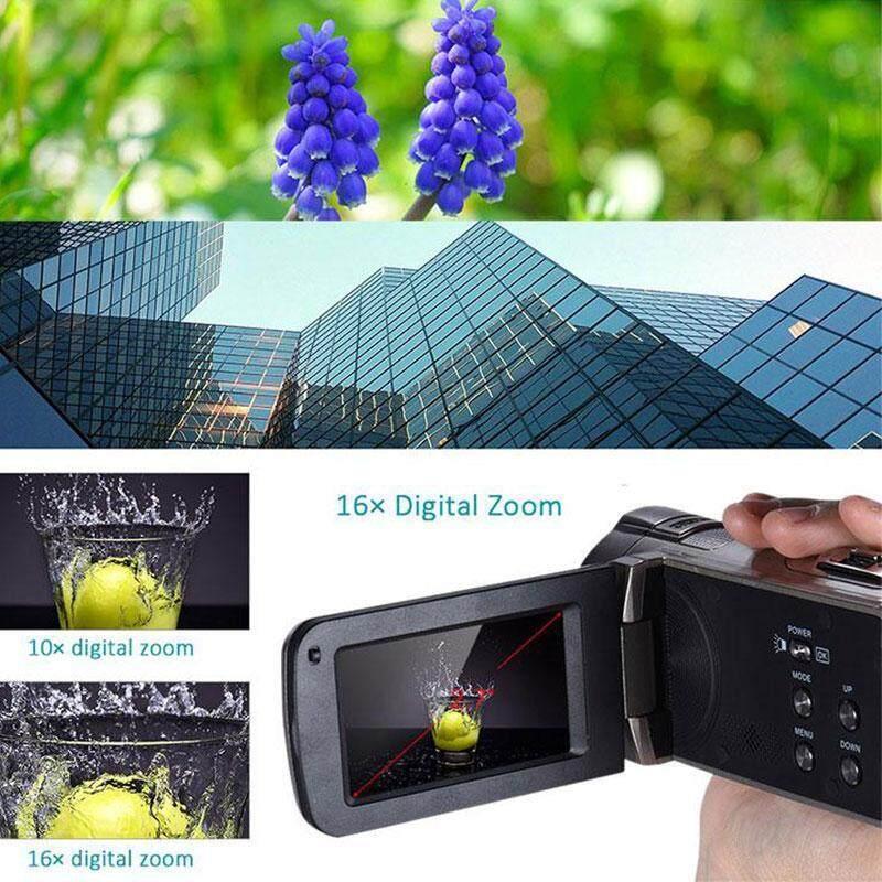 HDV 312P 2.7'' inch Digital Camera HD 1080P 16x Zoom 24MP DV LCD Screen UK Plug
