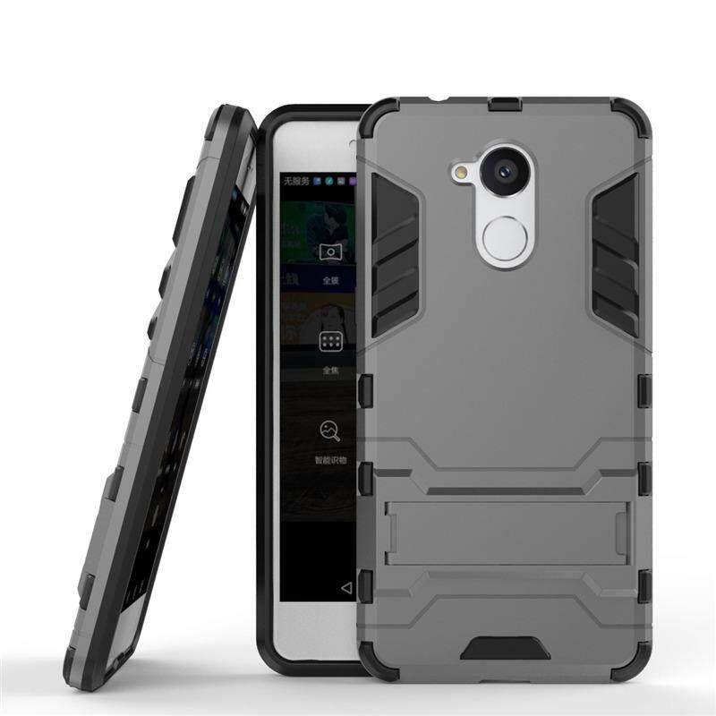 Berat Tugas Ganda Lapisan Jatuh Perlindungan Anti Guncangan Pelindung Hibrida Baja Gaya Sarung Pelindung Case dengan Diri Penyangga untuk Huawei Nikmati 6 S-Internasional