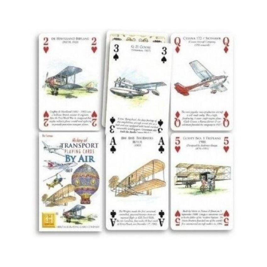 History of Transport by Air Playing Cards - intl