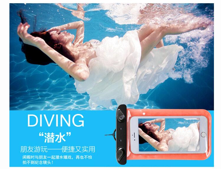 HK Mall 2 Pcs Universal Anti Udara Tas Telepon Kantung Lipat Di Bawah Udara Case Kering With Tali Leher pantai To S6/S7 Anda I5/I6/I7 21.5*12.5 Cm Hingga 5.7 Inch Telepon Mahal Ketimbang 2 Seri Lainnya -Internasional