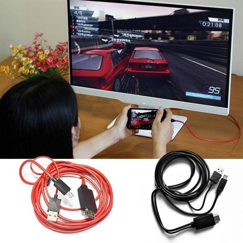 HUADE Micro Usb Mhl To Hdmi Hdtv Hd Tv Adapter Cable For Android Mobilephone - intl