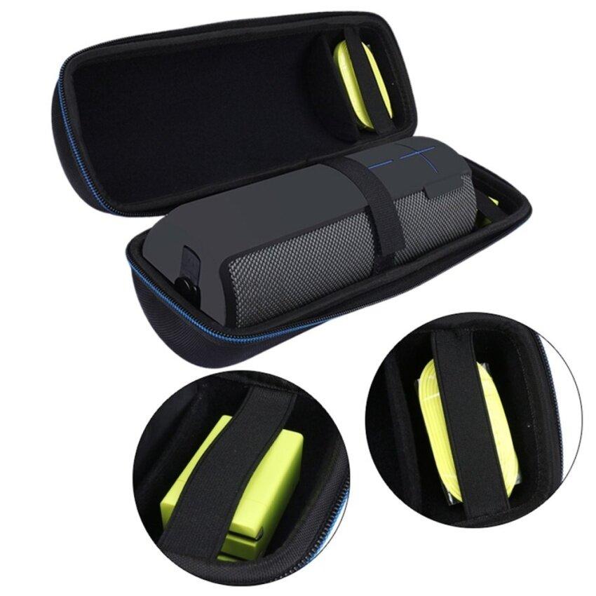 leadingtrust Portable Travel Carry Storage Hard Case Bag Holder Zipper Pouch Forlogitech Ue Mega Boom Bluetooth Speaker And Charger - intl