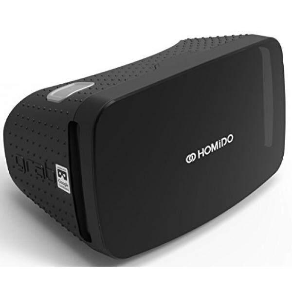Homido 3D Kacamata VR dengan Lensa VR, homido Ambil Virtual Reality Headset untuk Permainan VR dan 3D Film untuk Iso dan Android, kompatibel dengan 4.5-5.7 Inci Layar Google Cardboard (Hitam)-Intl