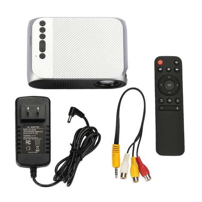 Hot Jual Terbaru YG320 Portable Proyektor LED 1080 P Rumah HD Theater TV Rumah Mikro Proyektor LCD Mini US Plug