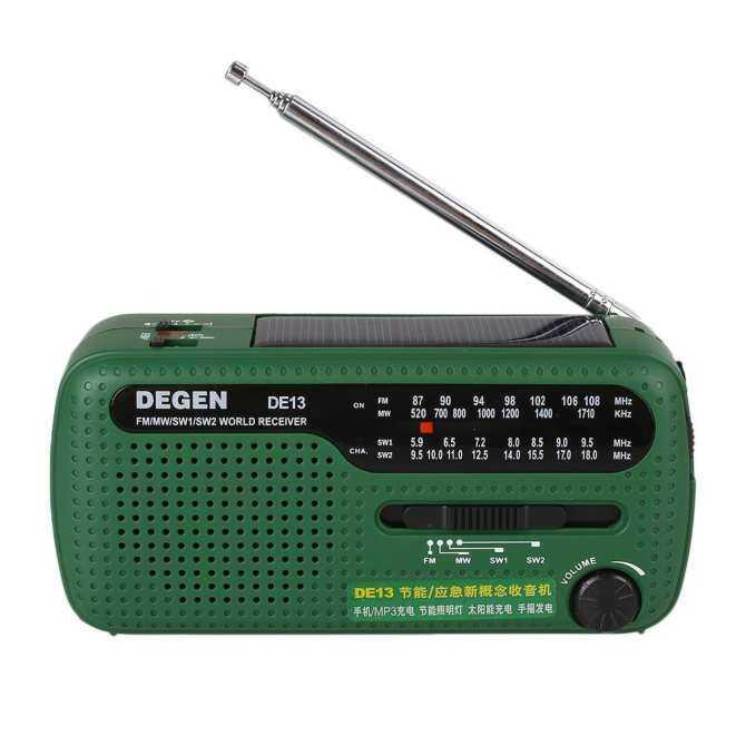 Seksi Jual Aksesoris Teknologi Darurat Portabel Tangan Crank Tenaga Surya FM/Mw/SW Radio Senter Telepon Pengisi Daya-Internasional