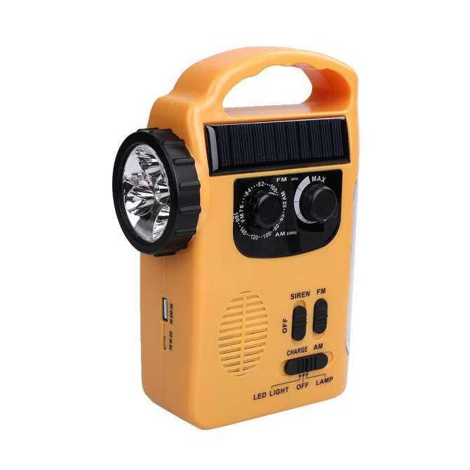 Seksi Jual Aksesoris Teknologi Tenaga Surya Bertenaga Angin Hingga Radio Darurat Senter LED Lampu Obor dengan AM/FM Weat- internasional