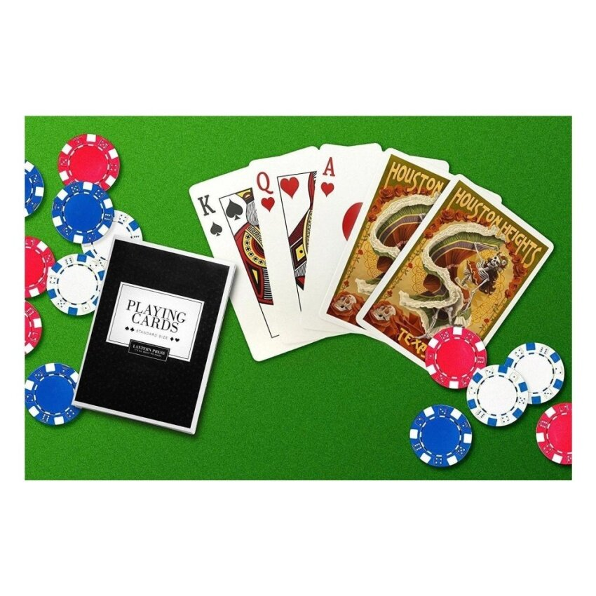 Houston Heights. Texas - Day of the Dead Skeleton Dancing (PlayingCard Deck - 52 Card Poker Size with Jokers) - intl