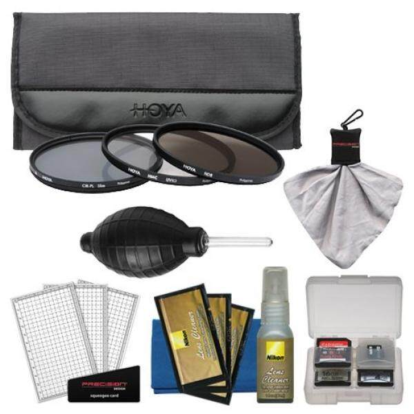 Hoya 62 Mm 3-Piece Filter Digital Set (HMC UV, CP & ND8) & Case + Nikon Peralatan Pembersih untuk Nikon 105 Mm F/2.8G VR AF-S Mikro 60 Mm F/2.8, 70-300 Mm F/4-5.6G, 85 Mm F/1.8 D Lensa-Intl