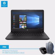 HP 14-bs537TU Laptop (Celeron N3060, 4GBD3, 500GB, 14.0, Win10) - Jet Black + HP Backpack n x3000 Wireless Mouse Malaysia