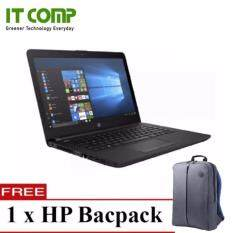 HP 14-bw053AU 14 Black Notebook (A6-9220/4GB/500GB/W10H) + Free HP Premium Backpack Malaysia