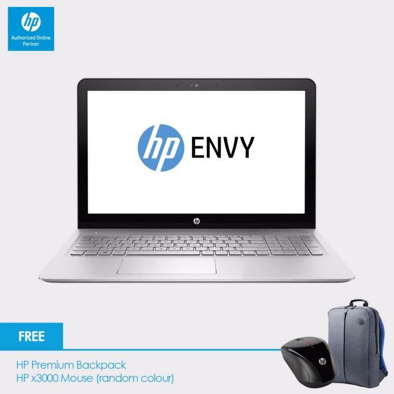 HP ENVY 15-as105TU Laptop (i7-7500U, 8GBD4, 1TB+128GB, 15.6 FHD, Win10) - Natural Silver + Free Backpack n HP X3000 Wireless Mouse Malaysia