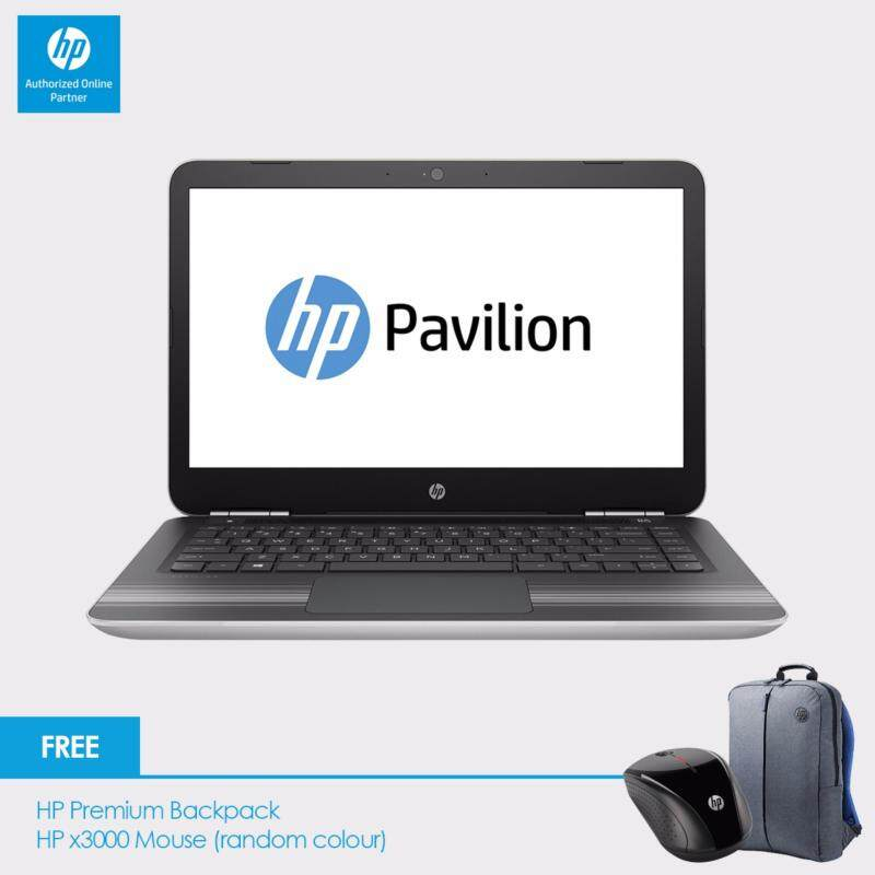 HP Pavilion 14-al107TX Laptop (i7-7500U, 4GBD4, 1TB, 940MX 4GB, 14.0 FHD, Win10) - Natural Silver + Free Backpack n HP X3000 Wireless Mouse + RM100 Shopping Voucher (Online Redeem) Malaysia